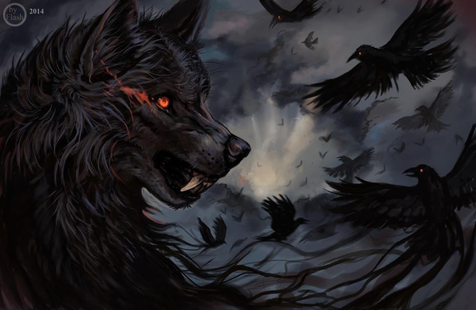 картинки волки с воронами кресло спинку