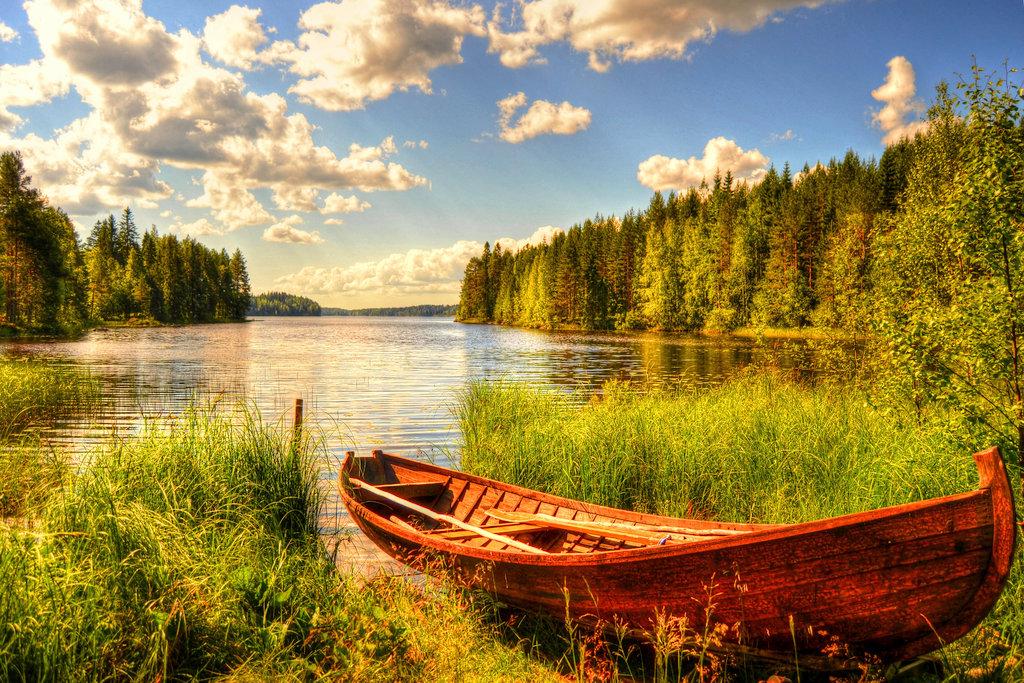 пейзажи с лодками