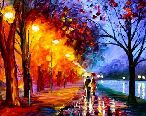 Фото Мужчина и женщина, идущие по тротуару под красивыми ...: http://photo.99px.ru/photos/167118/