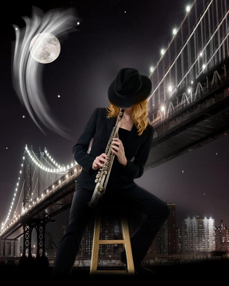 Открытки мужчина с саксофоном