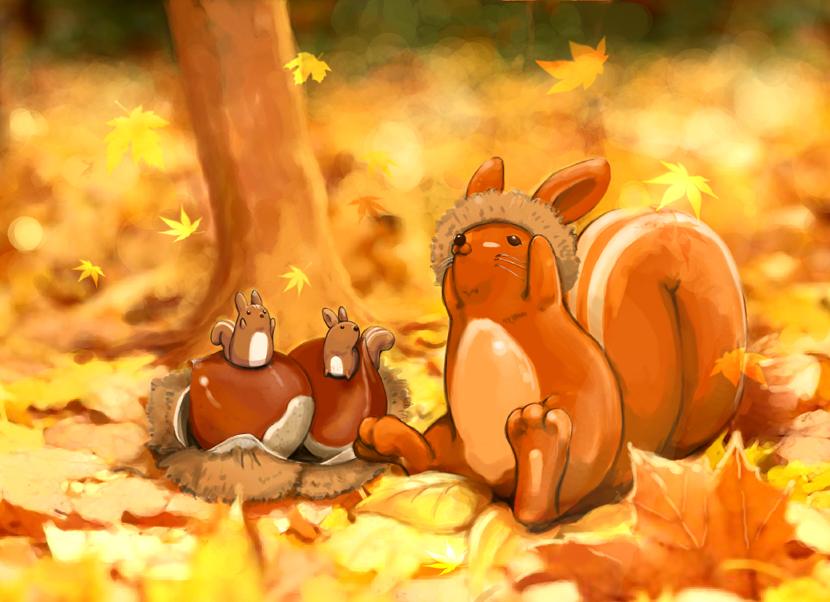 Красивые картинки осень мультяшные