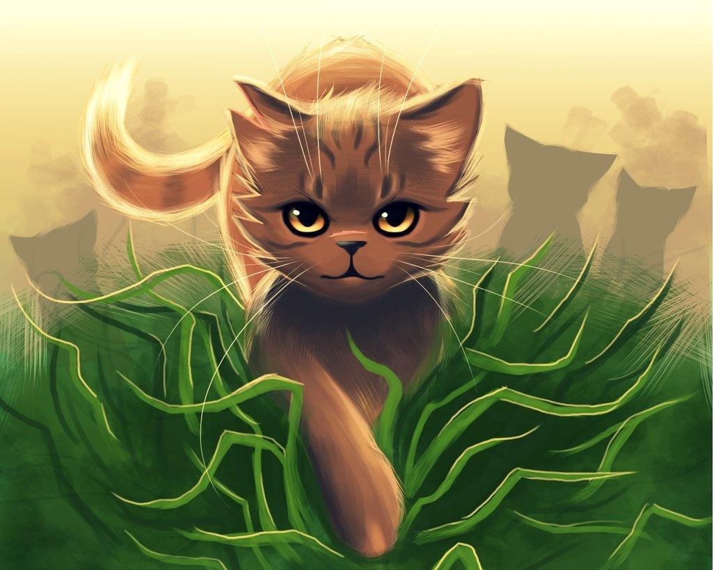 Картинки на которых лечебные травы котов воителей