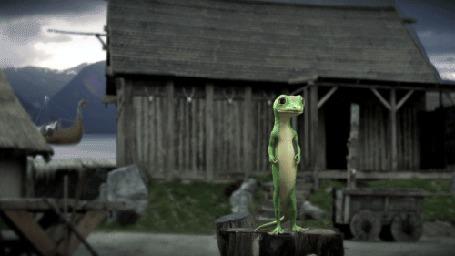 Фото Известная американская страховая компания Geico использует в своей рекламе вымышленный персонаж – антропоморфного геккона