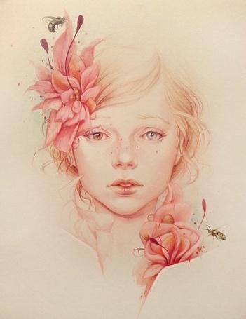 Фото Грустная девушка с разного цвета глазами