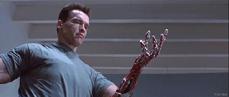 Фото Кадр из фильма Терминатор 2: Судный день / Terminator 2: Judgment Day, в роли Терминатора Арнольд Шварценеггер / Arnold Schwarzenegger