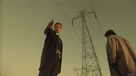 Фото Кадр из фильма Семь / Seven, в роли детектив Дэвида Миллза Брэд Питт / Brad Pitt