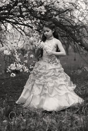Фото Девочка с цветами