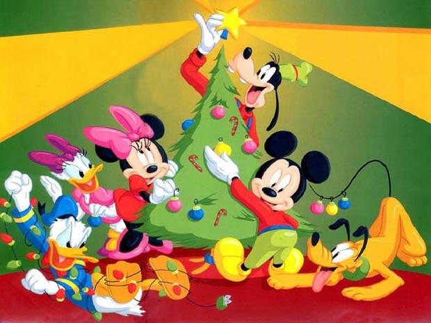 Фото Персонажи мультипликационного сериала Все о Микки Маусе: Микки Маус, Минни Маус, Дональд Дак, Дейзи Дак, Гуфи и Плуто готовятся к Рождеству