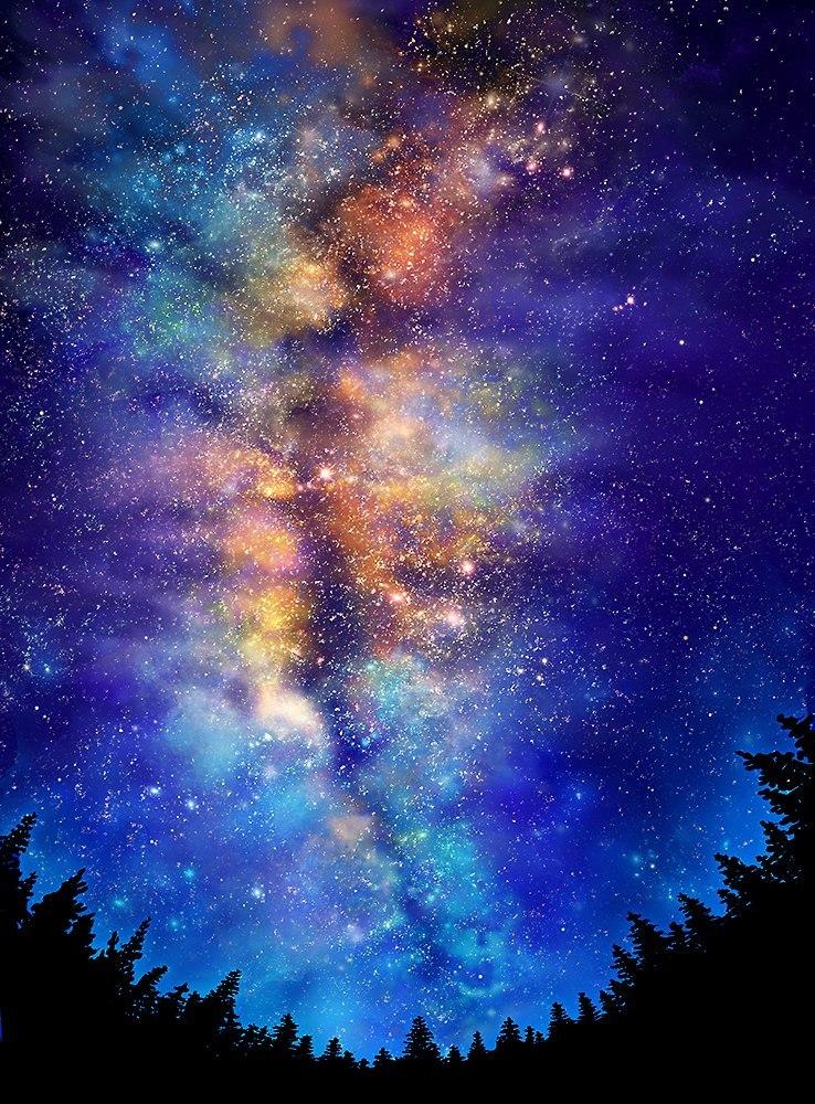 этом звездное небо картинки вертикальные одна средневековая