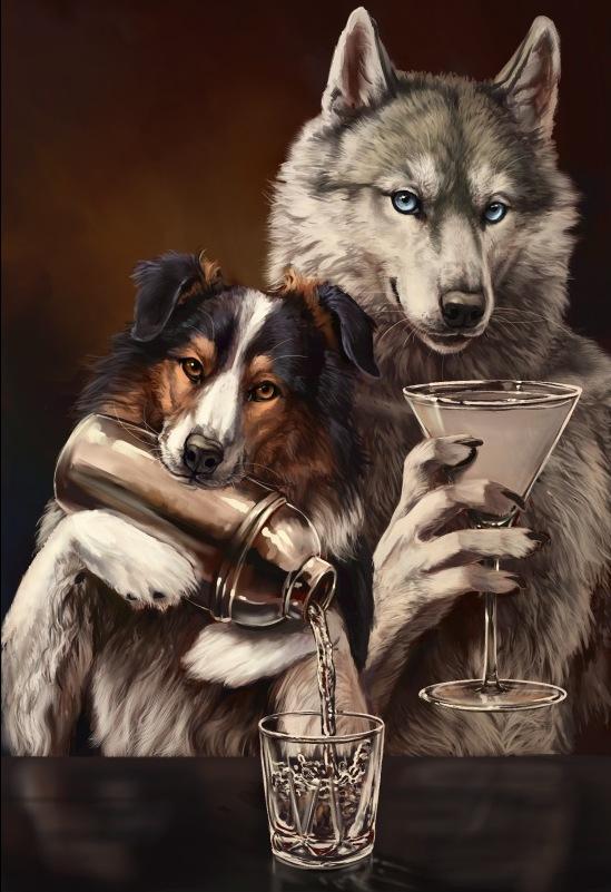 Пьяный волк картинка
