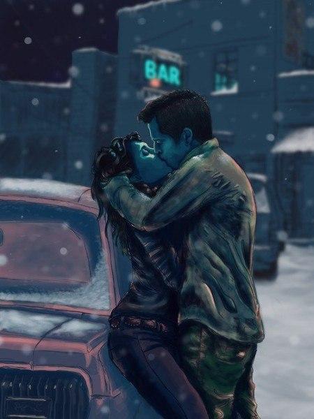 Фото Мужчина целует девушку, которая облокотилась на ...: http://photo.99px.ru/photos/174919/