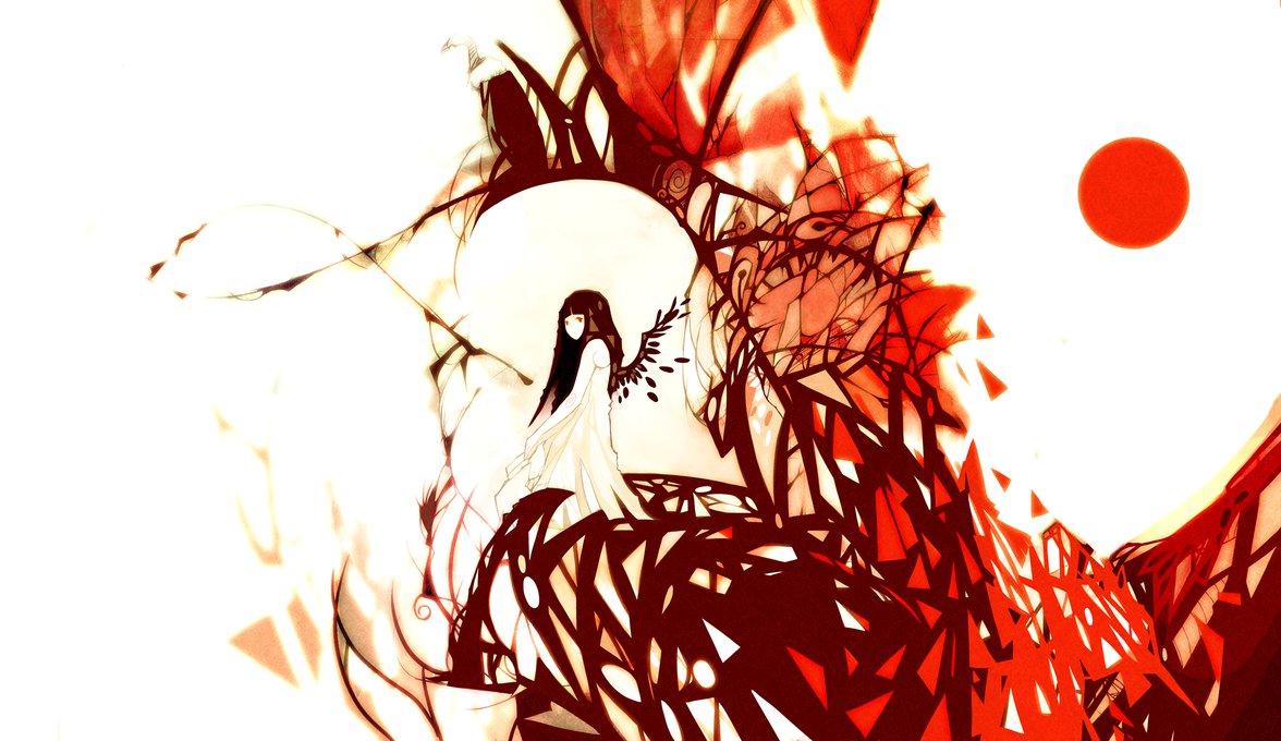 Фото Девушка с крыльями сидит на какой-то конструкции