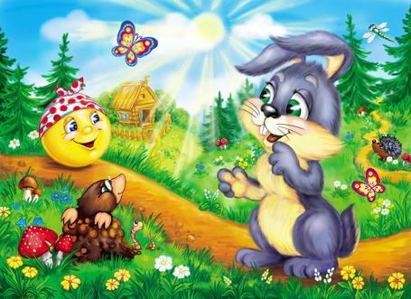 Фото Иллюстрация из мультфильма Колобок / The Gingerbread Man