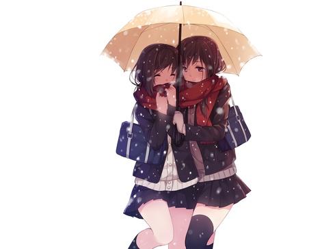 Фото Девушки под зонтиком