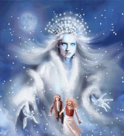 Фото Снежная королева тянется к Каю и Герде, сказка Снежная Королева / The Snow Queen