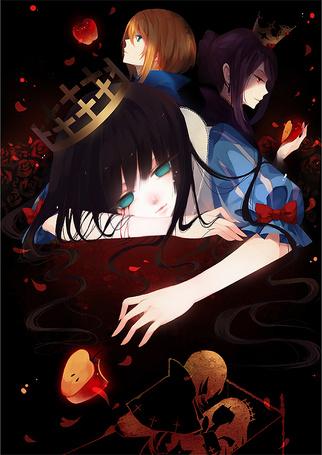 Фото Иллюстрация сказки Snow White and the Seven Dwarfs / Белоснежка и семь гномов в стиле манги