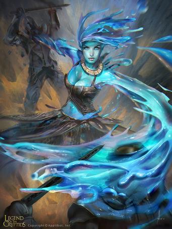 Фото Девушка из воды атакует стражников, игра Legend of the Cryptids