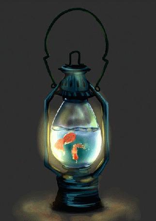 Фото Золотые рыбки в керосиновой лампе, автор Maruchi_b