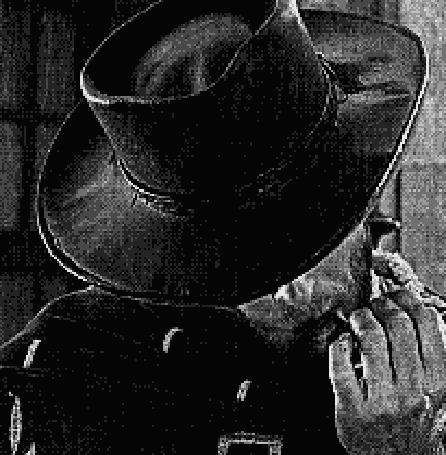 Фото Герой Klint Iistvud / Клинта Иствуда — человек без имени, умеющий стрелять без промаха, кадр из фильма за пригоршню долларов