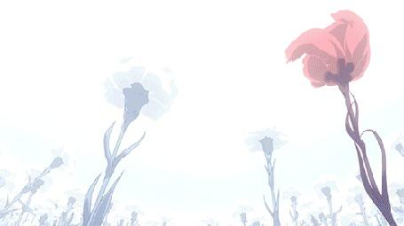 Фото Rize Kamishiro / Ризэ Камиширо из аниме Tokyo Ghoul / Токийский гуль поправляет волосы и расцветают ликорисы