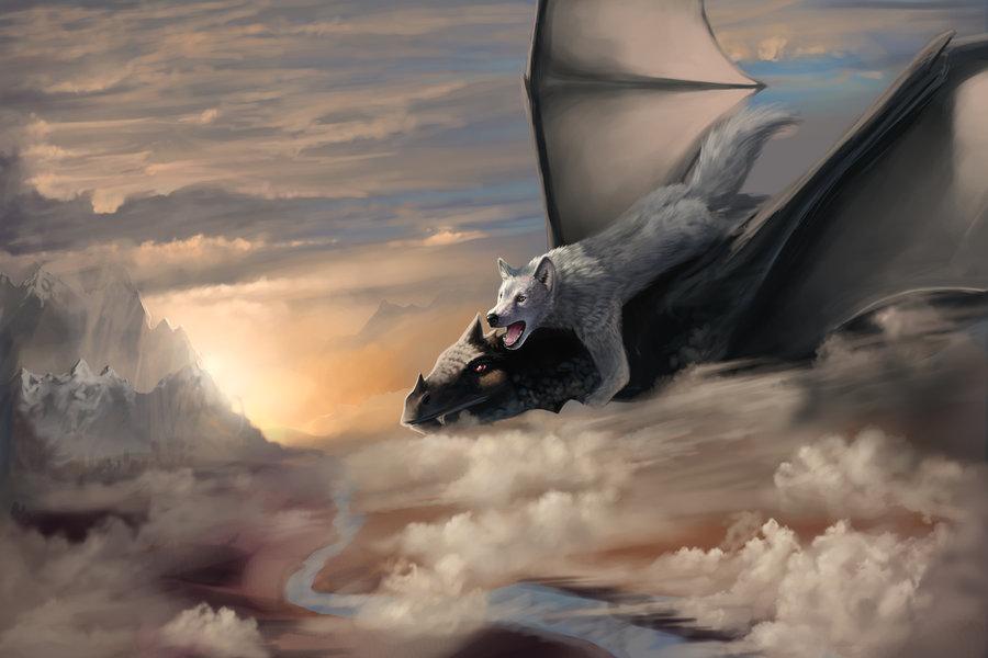 картинки про драконов и волкова