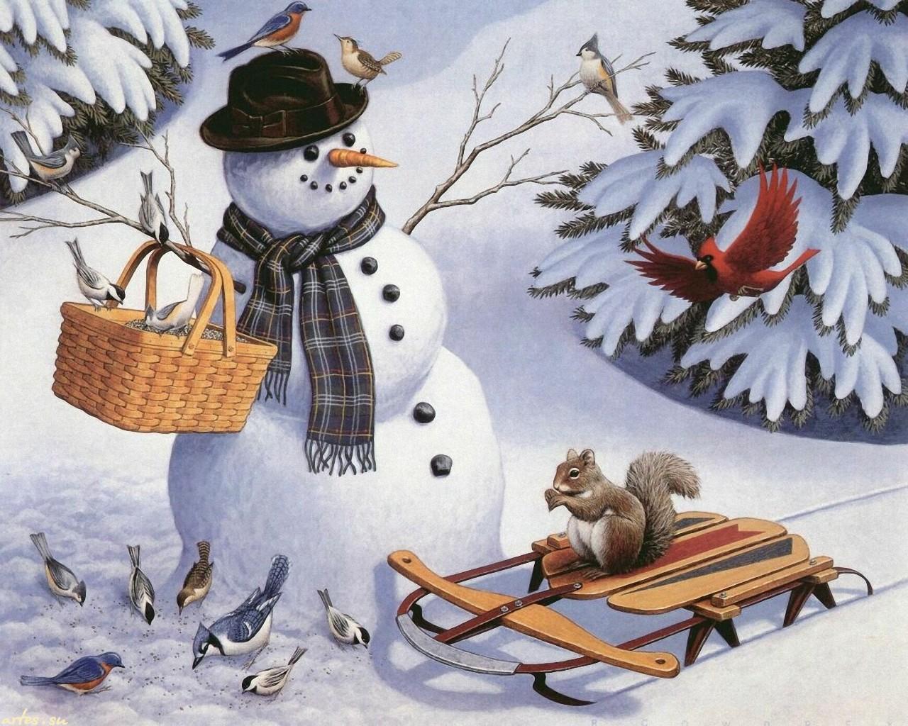 Картинки о зиме для детей 7-8 лет