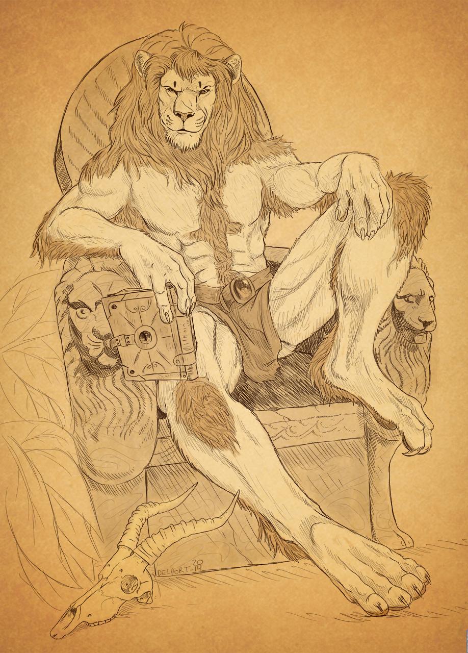 высокая картинки полу человек полу лев деревянных ворот своими