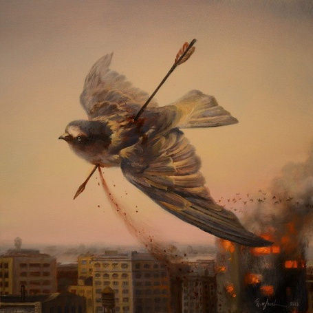 Фото Птица, пронзенная стрелой, by Martin Wittfooth