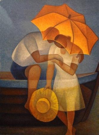 Фото Влюбленные под зонтом, ву Louis Toffoli