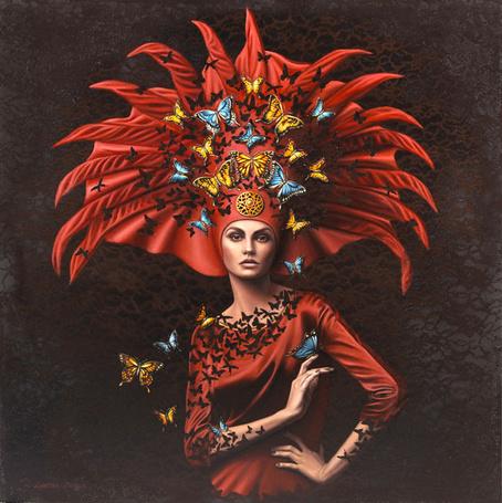 Фото Девушка в оригинальной одежде с бабочками, ву Лариса Мораис