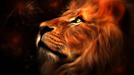 Фото Лев-царь зверей, рисунок