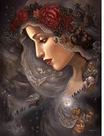 Фото Грустная девушка со своими переживаниями, художница Мишель Миа Арауйо