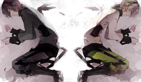 Фото Раздвоение парня на светлую сторону и на темную