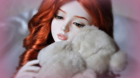 Фото Кукла с мишкой