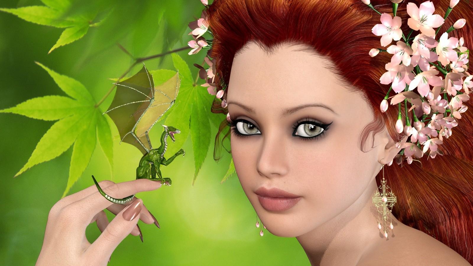 Фото рыжих девушек в зеленом 19 фотография