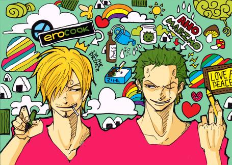 ���� ������ / Sanji (erocook, im prince) � ������� ���� / Roronoa Zoro �� ����� ������� ��� / One Piece (Aho marimo) (� Maya Natsume), ���������: 02.12.2014 18:59
