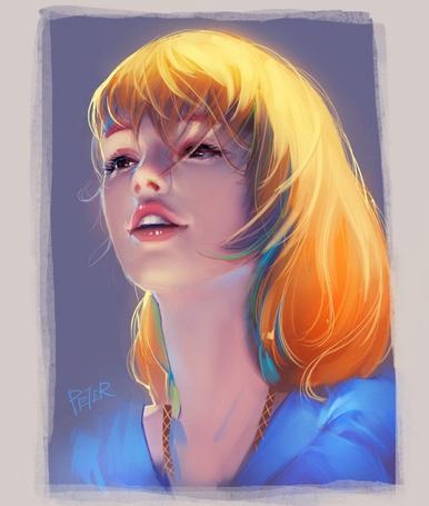 Фото Портрет белокурой девушки