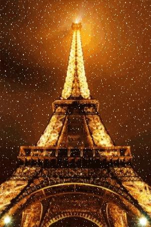 Фото Зимний Париж, Эйфелева башня / Paris, Eiffel tower