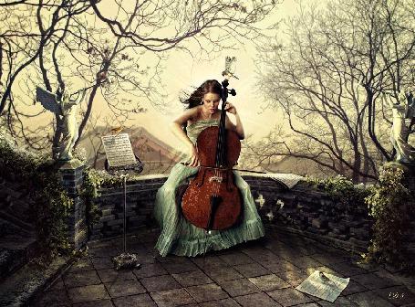Фото Девушка играет на виолончеле, by AllaD8