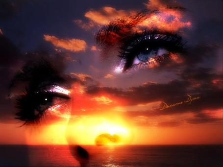 Фото Красивые женские глаза, смотрящие вдаль (Дыхание Души)