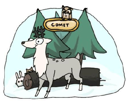 Фото Щелкающий пастью олень Comet / Комет