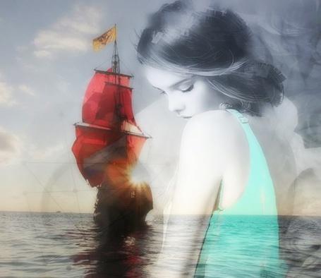 девушка и паруса