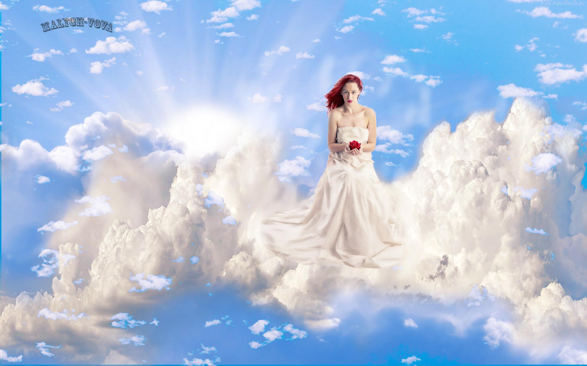 Девушка облака фото