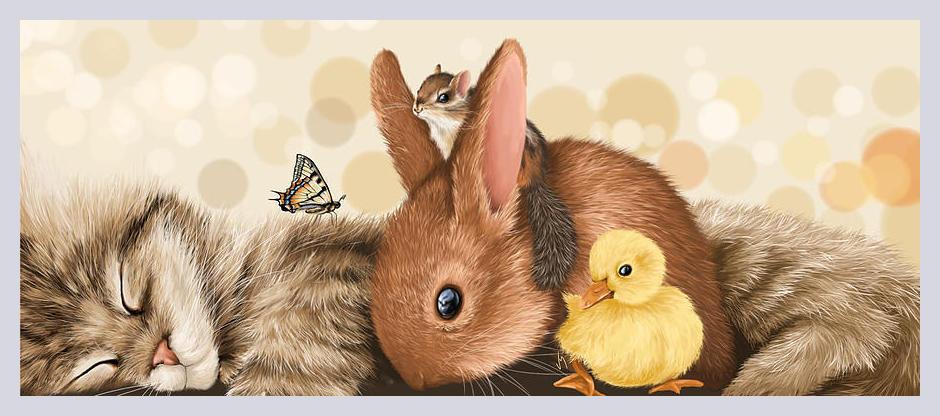 Картинки с белкой и зайчиком