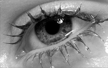 Фото Оживший глаз, капли на ресницах