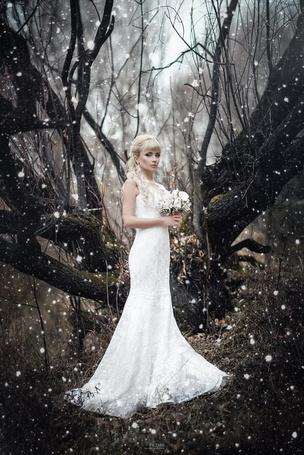 Фото Невеста с букетом