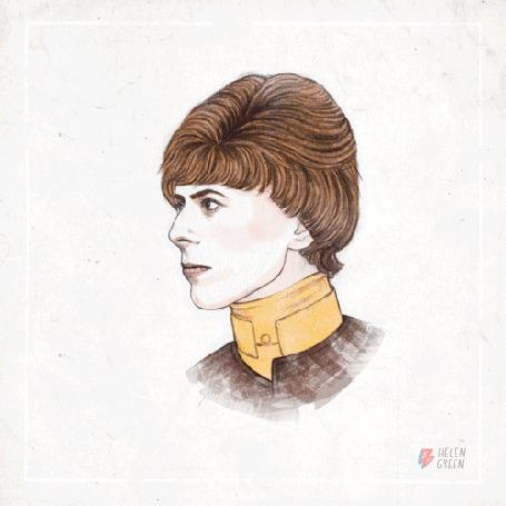 Фото Трансформации Дэвида Боуи / David Bowie (Helen Green)