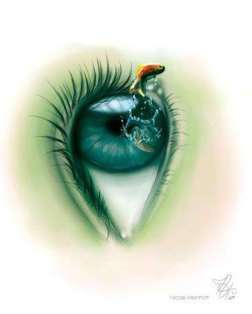 Фото Глаз с рыбкой, ву mohn-blume