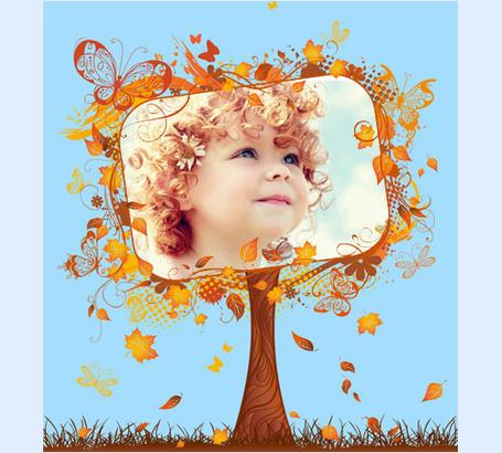 Фото Кучерявый ребенок, портрет