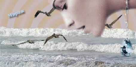 Фото Взгляд девушки в мор (Мираж)